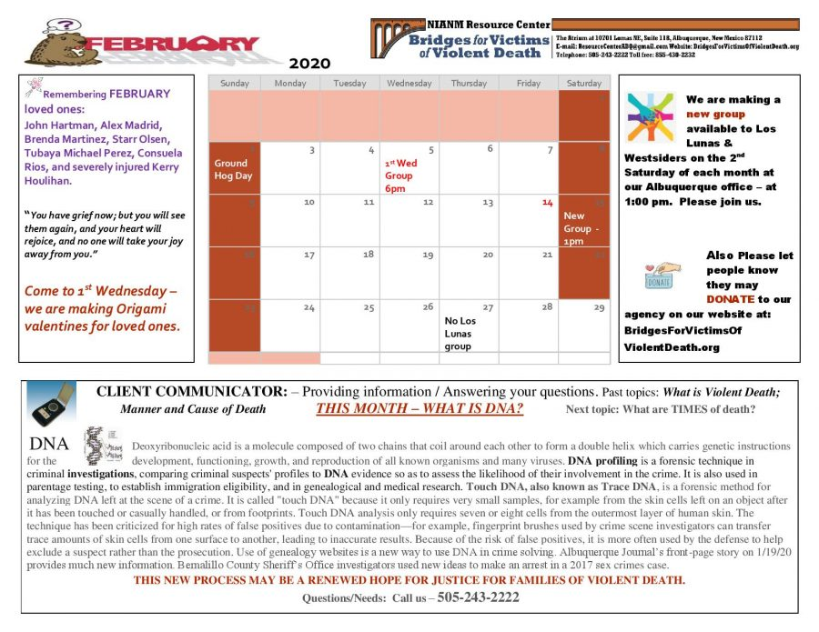 Here is our February Client Communicator. Click the image for a bigger version!
