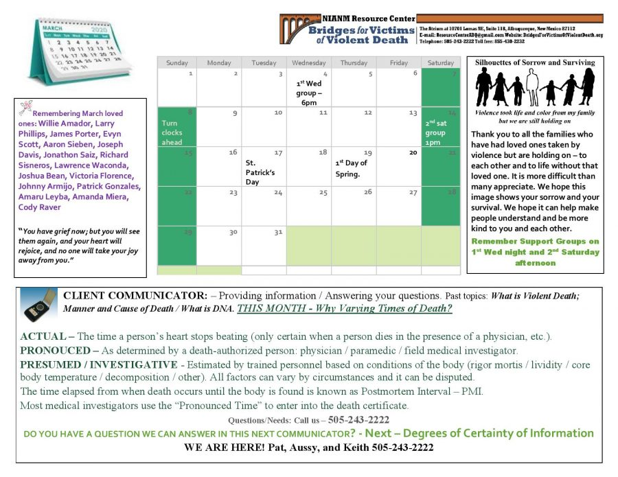 Here is our March Client Communicator. Click the image for a bigger version!